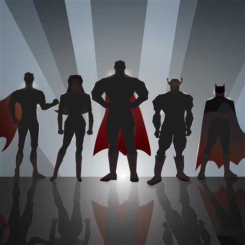 Super Hero's have 3D Xray Vision